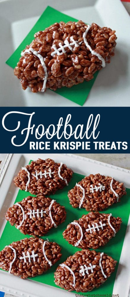 Football Rice Krispies - How to throw a kid-friendly super bowl party