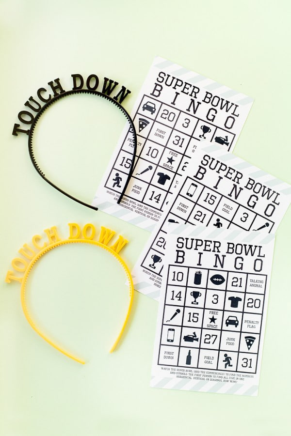 Super Bowl Bingo Free Printable Game