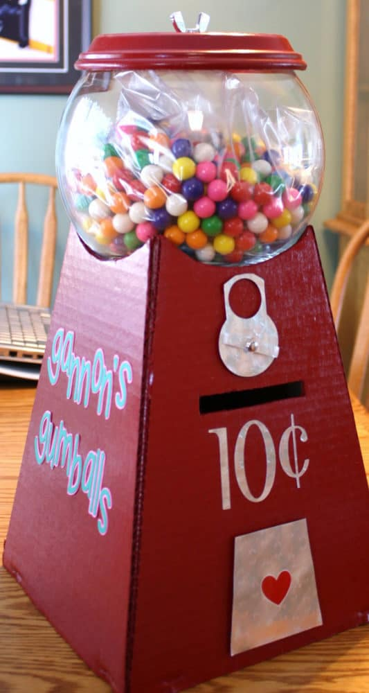 DIY Gumball Machine Valentine Card Holder
