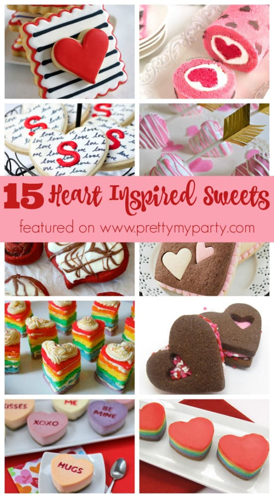 15 Heart Inspired Desserts for Valentine's Day on Pretty My Party