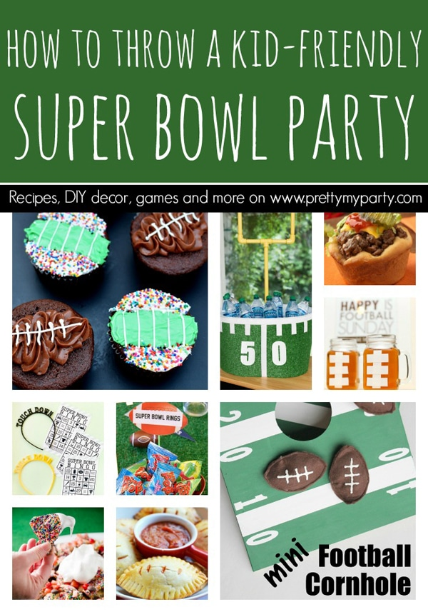how to throw a kid friendly super bowl party pretty my party party ideas. Black Bedroom Furniture Sets. Home Design Ideas