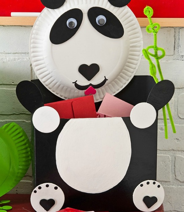 Panda Bear Valentine Card Box