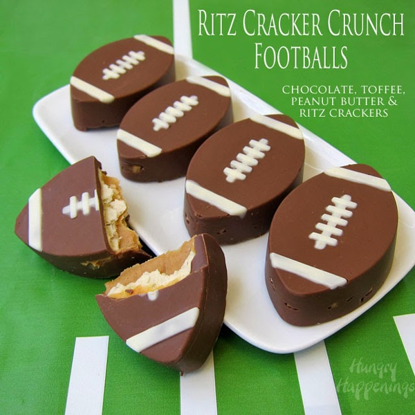 Ritz Cracker Crunch Footballs - How to throw a kid-friendly super bowl party