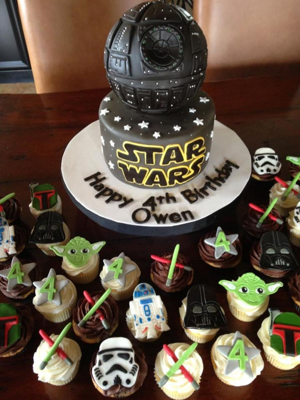 Sensational 10 Out Of This World Star Wars Cakes Pretty My Party Party Ideas Birthday Cards Printable Riciscafe Filternl