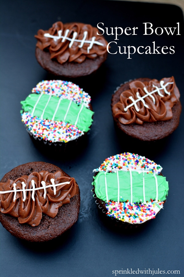 How to make super bowl cupcakes