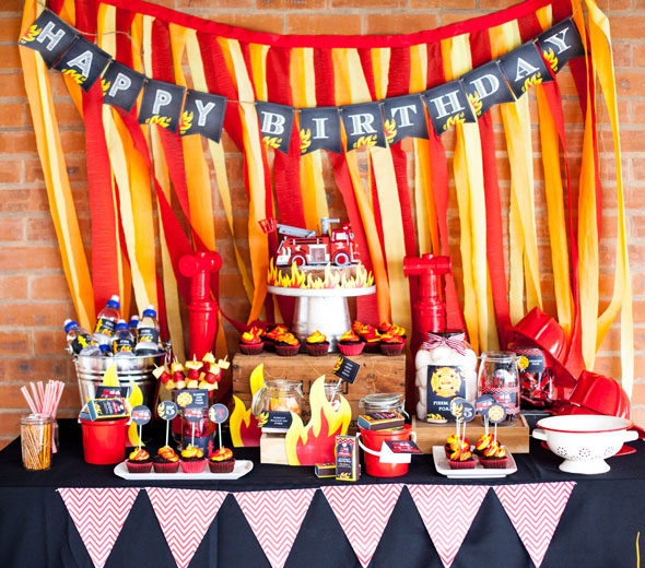 Fireman Birthday Bash Firefighter Party Ideas Pretty