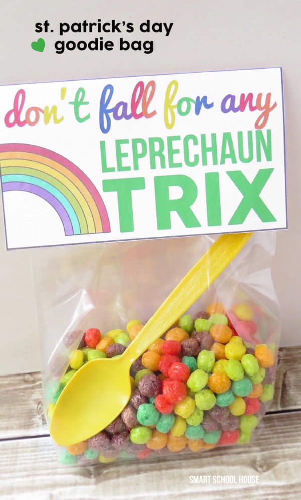 Free Leprechaun Trix Favor Printable