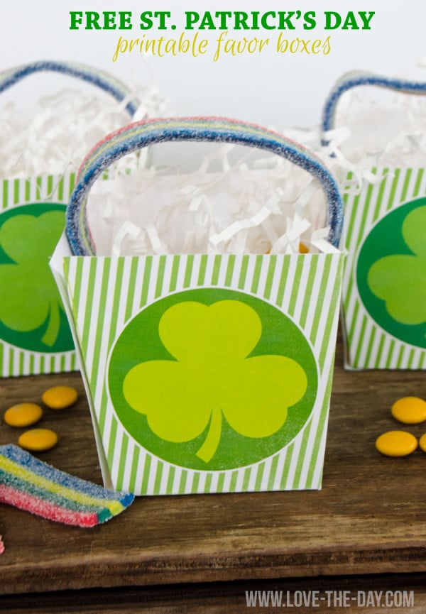 Free St. Patrick's Day Printable Favor Box