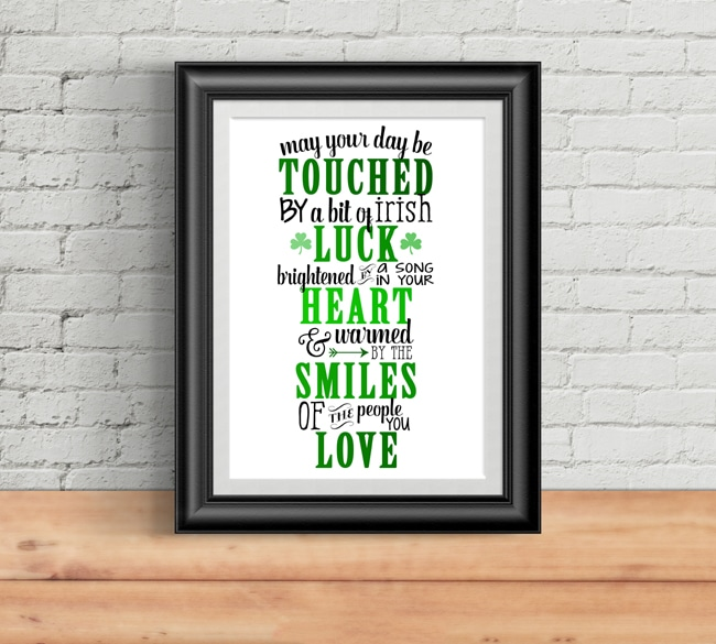 Free Irish Blessing Printable Art on Pretty My Party