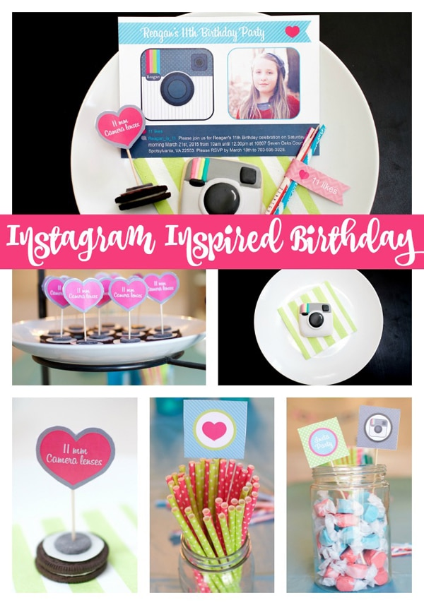 Instagram Inspired Birthday Party - Pretty My Party - Party Ideas