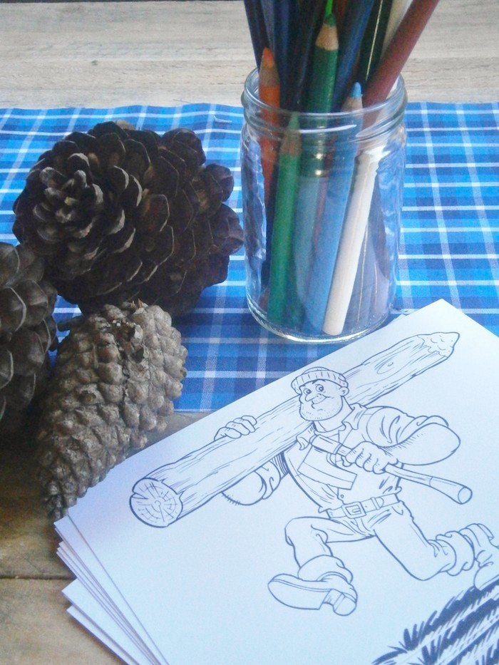 Lumberjack Coloring Pages