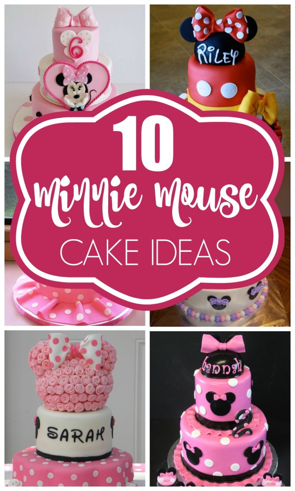 Magnificent 10 Cutest Minnie Mouse Cakes Everyone Will Love Pretty My Party Funny Birthday Cards Online Alyptdamsfinfo