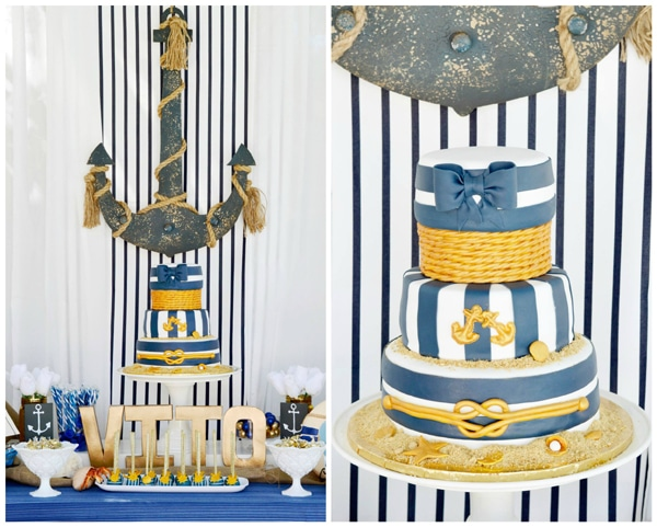 nautical-first-birthday-party-dessert-table