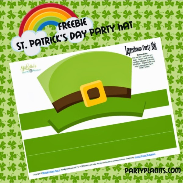 Free St. Patrick's Day Party Hat Printable