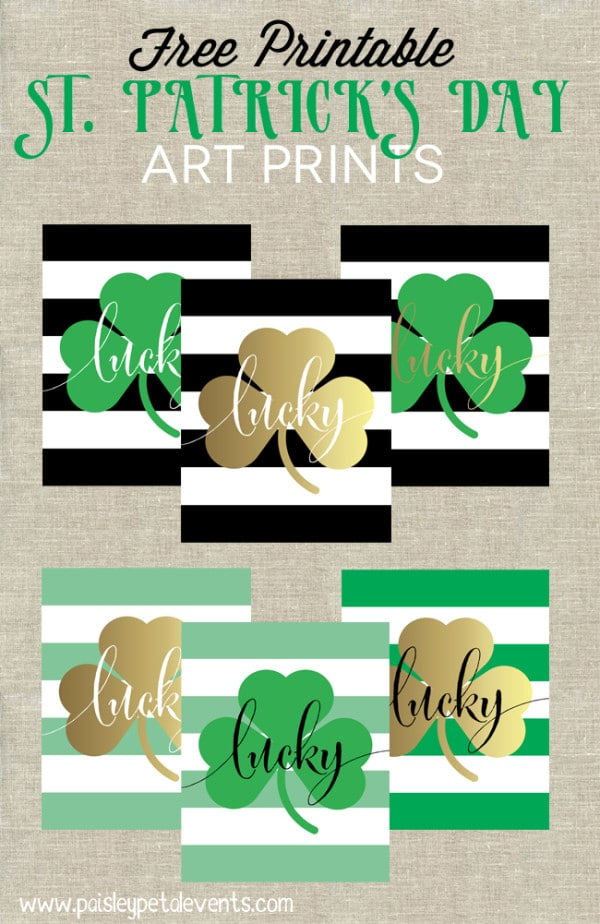 Free St. Patrick's Day Art Prints