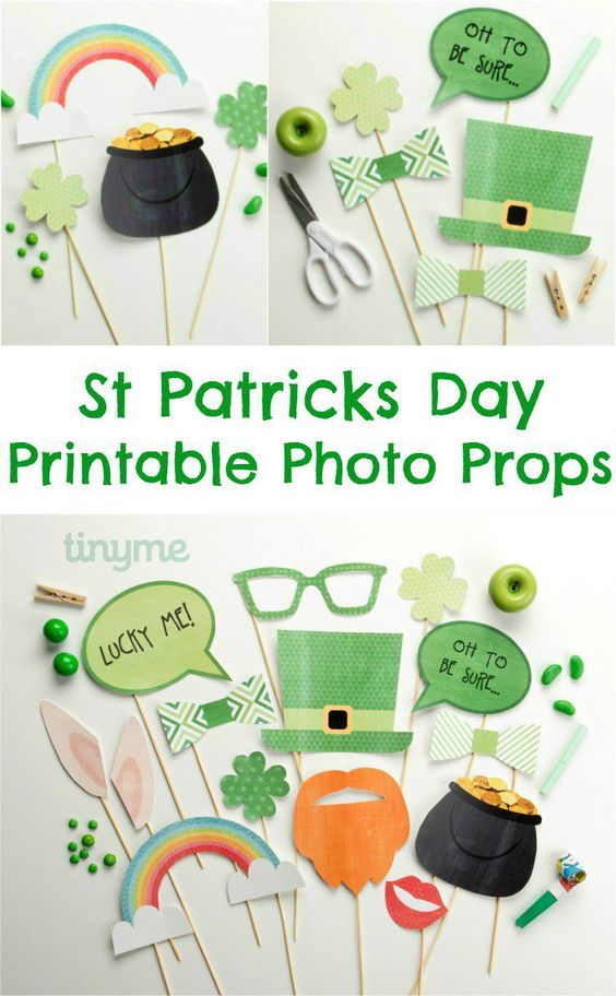 Free Photo Props For St. Patrick's Day