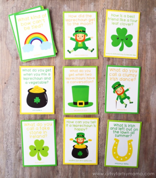 Free St. Patrick's Day Lunch Box Notes For Kids