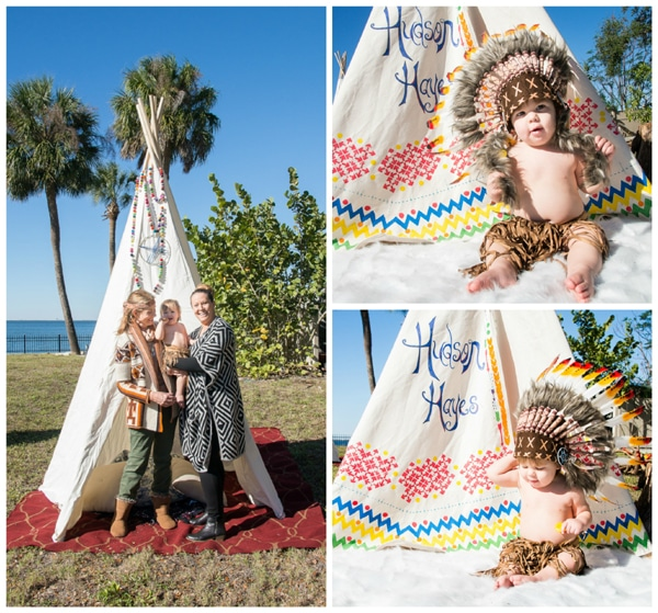 Teepee Indians First Birthday Party Pretty My Party