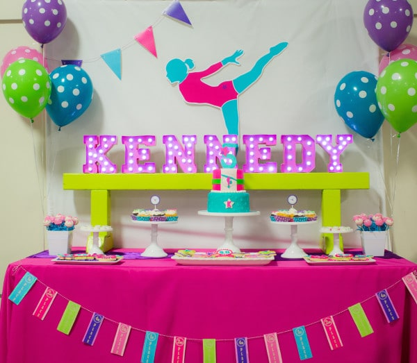 Bright And Colorful Gymnastics Birthday Party Pretty My Party