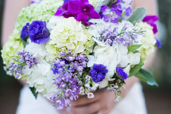 Purple and Grey Southern Wedding