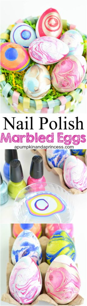 DIY-Nail-Polish-Marbled-Eggs