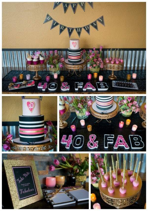 Glam Forty Birthday Party Ideas