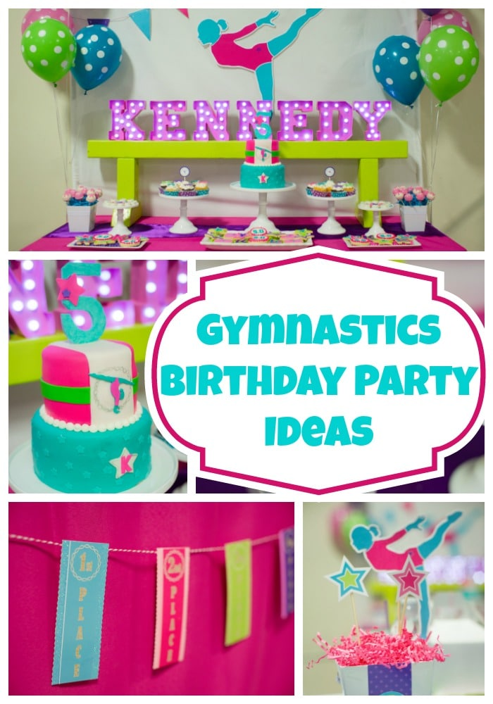 Bright And Colorful Gymnastics Birthday Party Pretty My