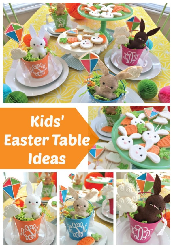 Kids Easter Table Ideas Collage