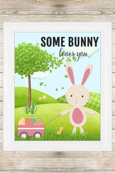 Some Bunny Loves You Free Easter Printable