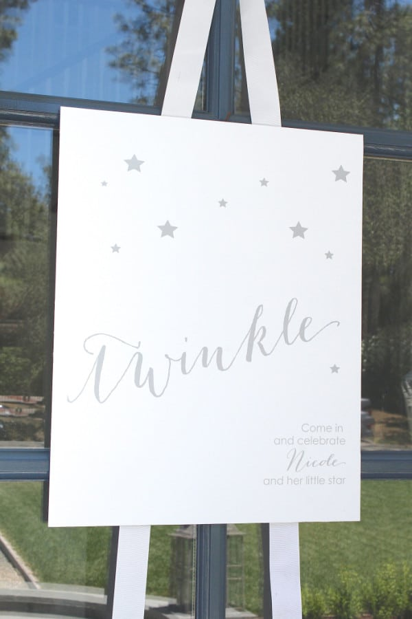 Twinkle Sprinkle Baby Shower Sign via Pretty My Party