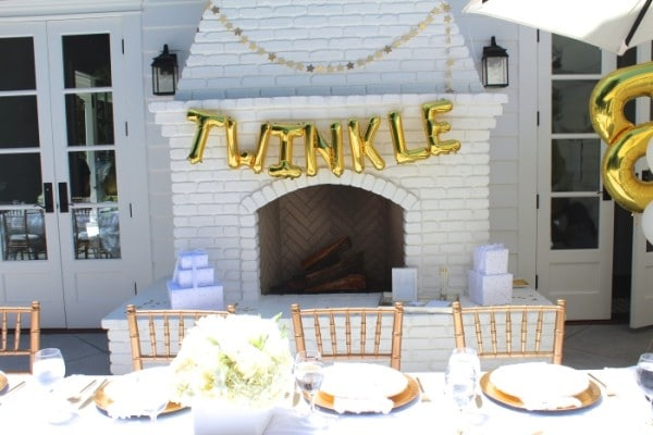 Twinkle Sprinkle Baby Shower Decorations via Pretty My Party