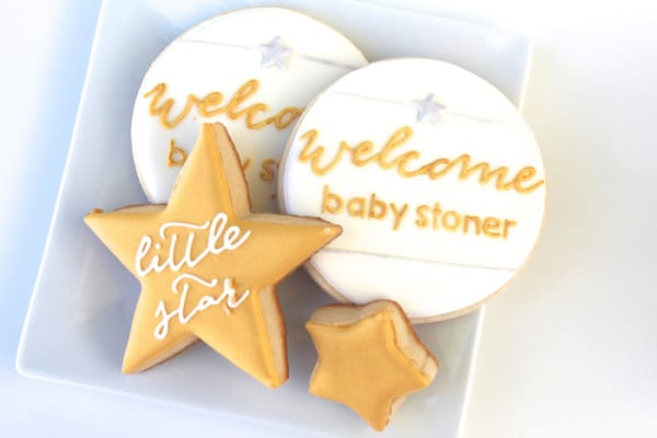 Cookies, Twinkle Sprinkle Baby Shower via Pretty My Party