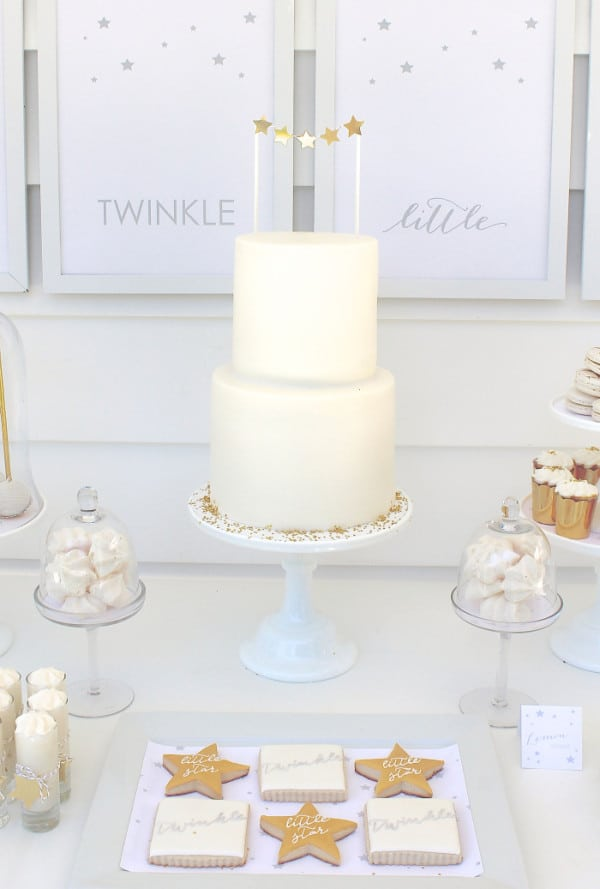Cake, Twinkle Sprinkle Baby Shower via Pretty My Party
