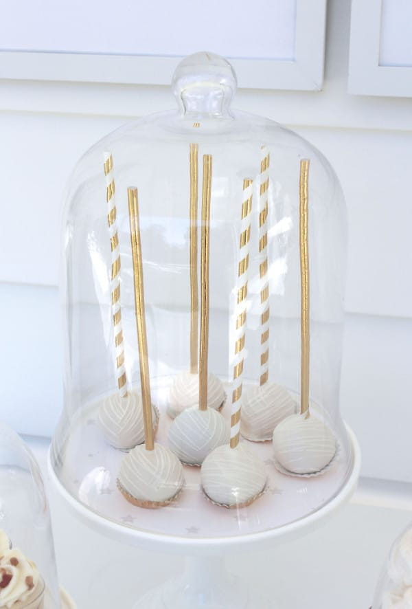 Cake Pops, Twinkle Sprinkle Baby Shower via Pretty My Party