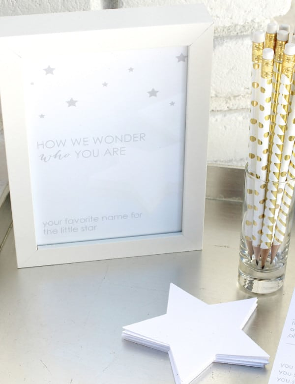 Baby Name Suggestions, Twinkle Sprinkle Baby Shower via Pretty My Party