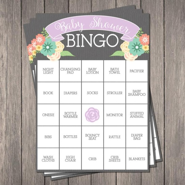 Free Baby Shower Bingo Printable | Pretty My Party