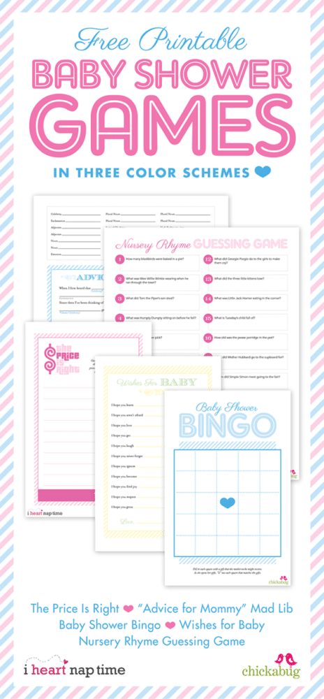 15 Free Baby Shower Printables | Pretty My Party  Printable Baby Shower Guest List