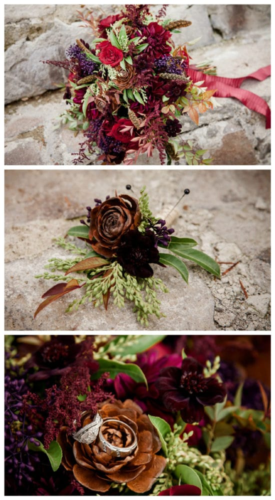 rustic-ski-lodge-wedding-flowers
