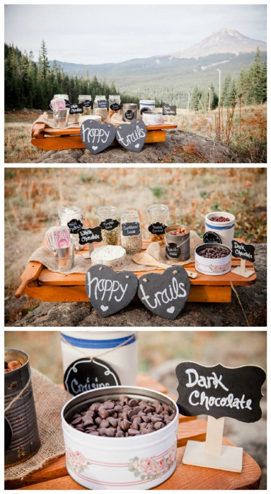 rustic-ski-lodge-wedding-trail-mix-bar-idea