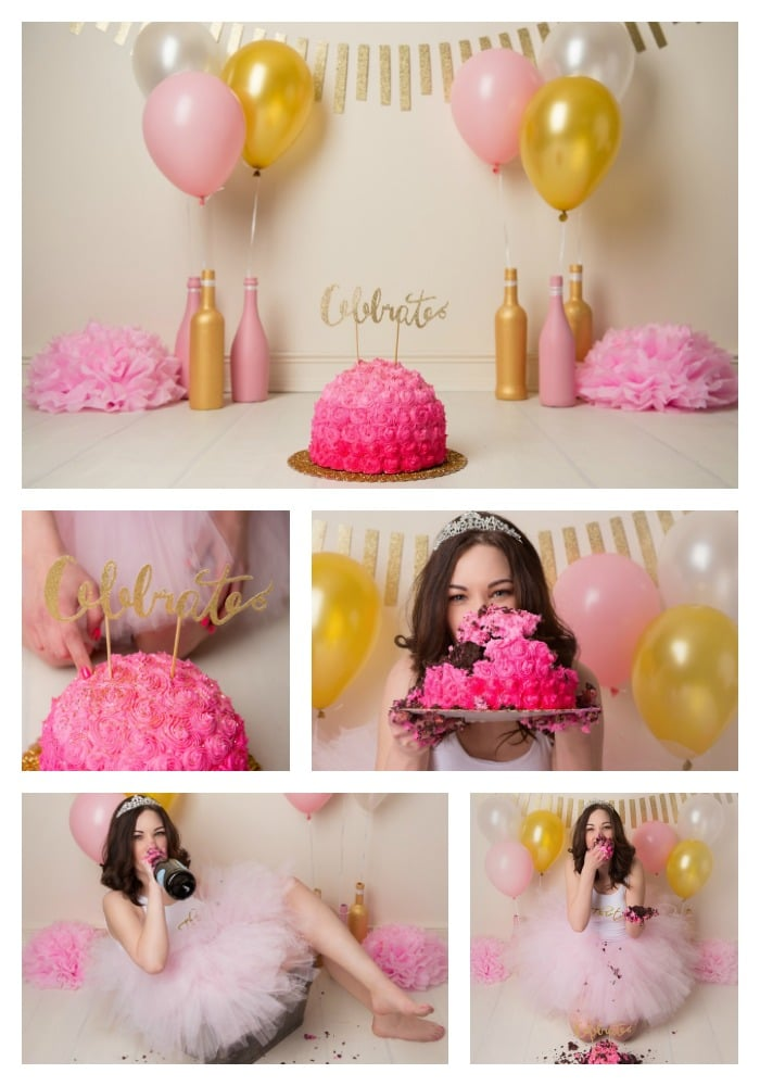 Thirtieth Birthday Cake Smash Pretty My Party Party Ideas
