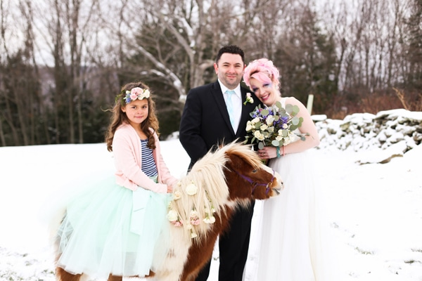 unicorn wedding styled shoot
