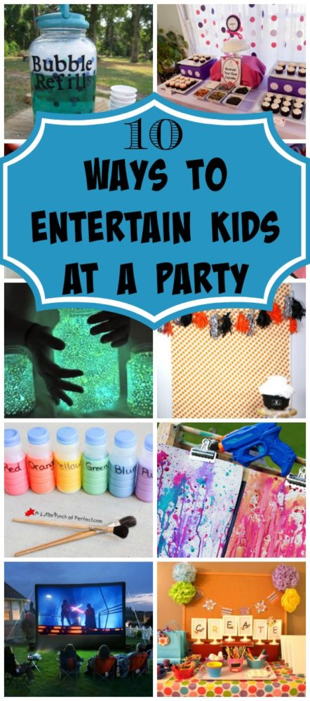10 Ways to Entertain Kids at Birthday Parties via Pretty My Party