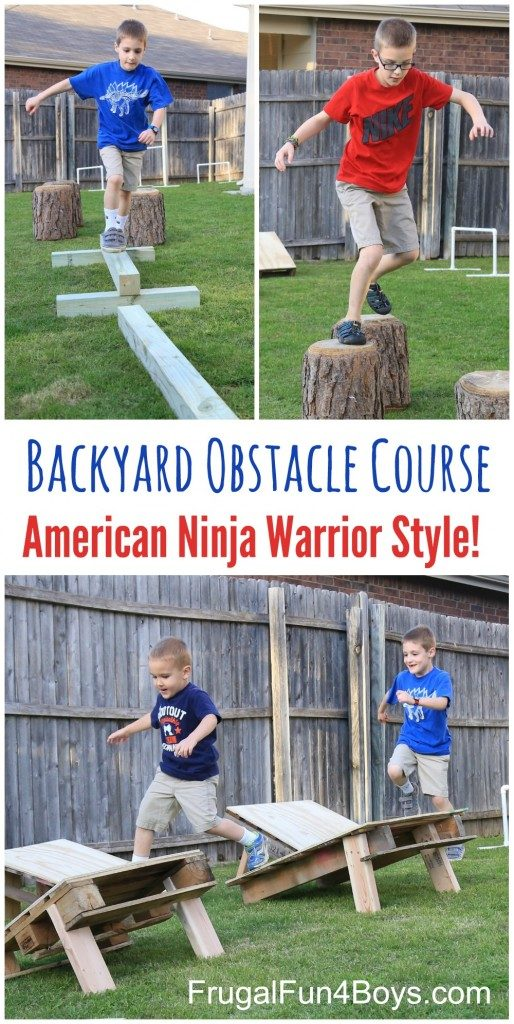Backyard Obstacle Course Ninja Warrior Style, Backyard Games