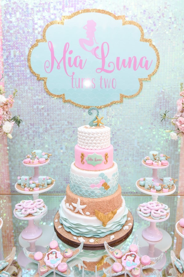 Mermaid Birthday Party Pretty My Party Party Ideas