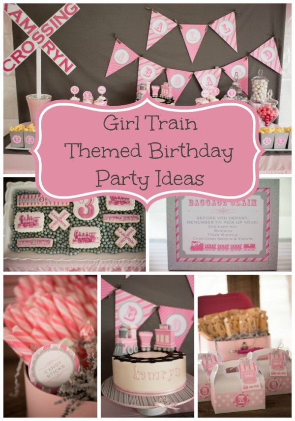 Girly Train Birthday Party Ideas
