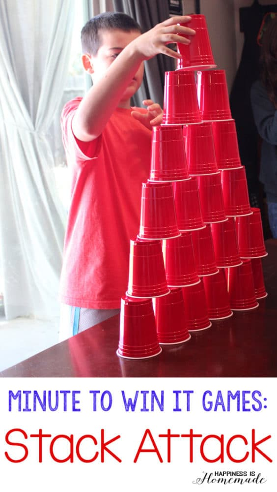 Minute to Win It Games, 25 Best Backyard Birthday Bash Games