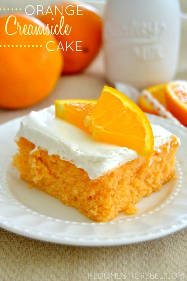 Orange Creamsicle Cake Recipe