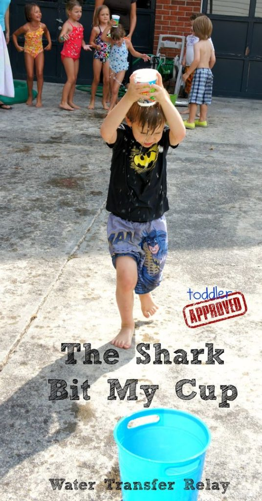 The Shark Bit My Cup Water Transfer Relay Game - Fun Games To Play For Backyard Parties