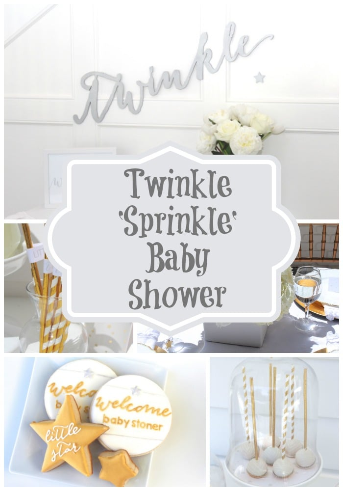 Twinkle Sprinkle Baby Shower via Pretty My Party