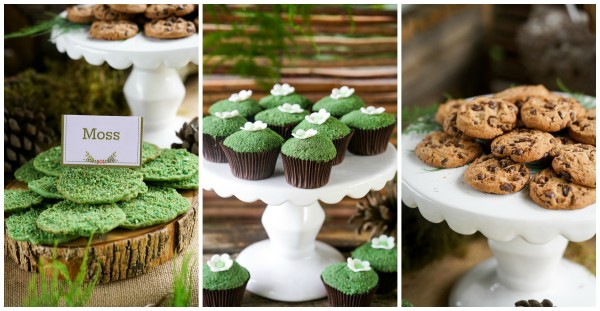 Boho Enchanted Forest Party Desserts via Pretty My Party | www.prettymyparty.com